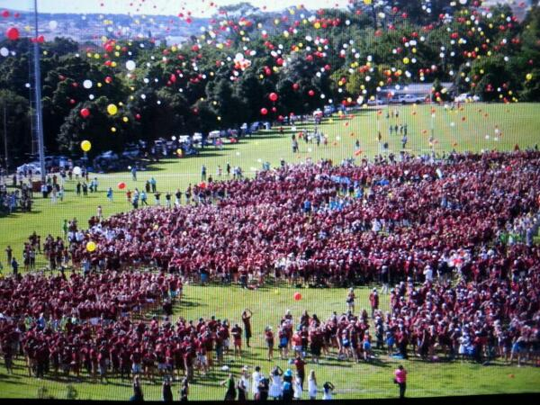 Maties #dreamlaunch. First-years wrote their dreams on balloons and let them soar... #welcomematies http://t.co/oOGMC8JL3Y