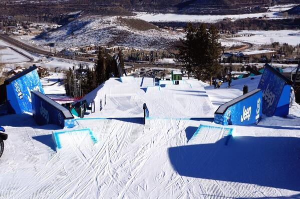 Good morning from day 1 of @Xgames! We're at the top of the slope course, and it's sick. http://t.co/sgnWZK3bEX