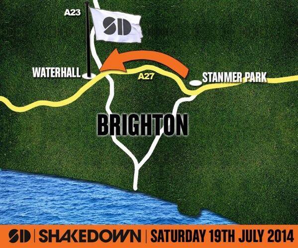 HUGE NEWS: #Shakedown2014 will take place on July 19th 2014 at our new venue; Waterhall! RT http://t.co/AAB62EhsxC