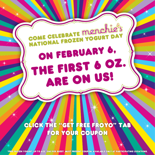 We're giving you FREE froyo on National Frozen Yogurt Day, Feb 6th! Visit http://t.co/NG52ylPurM to get your coupon! http://t.co/4PCs4UYuQE