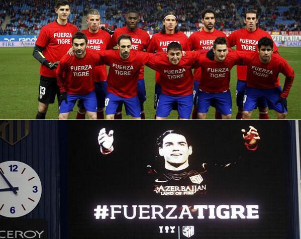 Esto es lo bonito del fútbol! #FuerzaTigre #FuerzaFalcao @FALCAO http://t.co/OK4Ot1v7HL