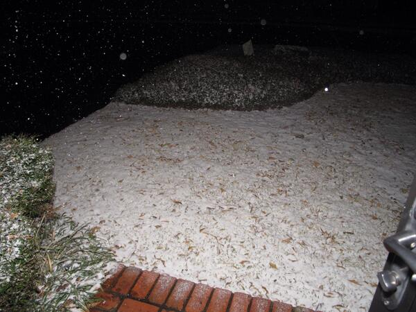 It is the last days!  It is the end of time!  The apocalypse is upon us!  It is snowing in Louisiana! http://t.co/S3prd8LQqS