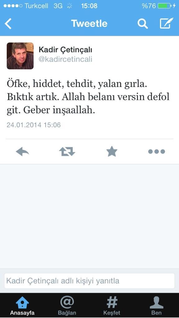 Bu arkadaş da gazeteci. Dogan Haber Ajansı'nın en kıdemlı muhabirlerinden biri. Başbakan'ı 'kibarca' eleştiriyor. http://t.co/7yKejLNomt
