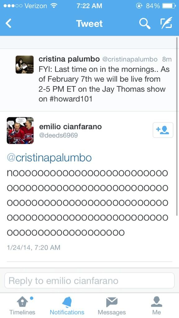 cristina palumbo (@cristinapalumbo): There have been mixed feelings about the recent announcement.. http://t.co/D2A2Xse7BV