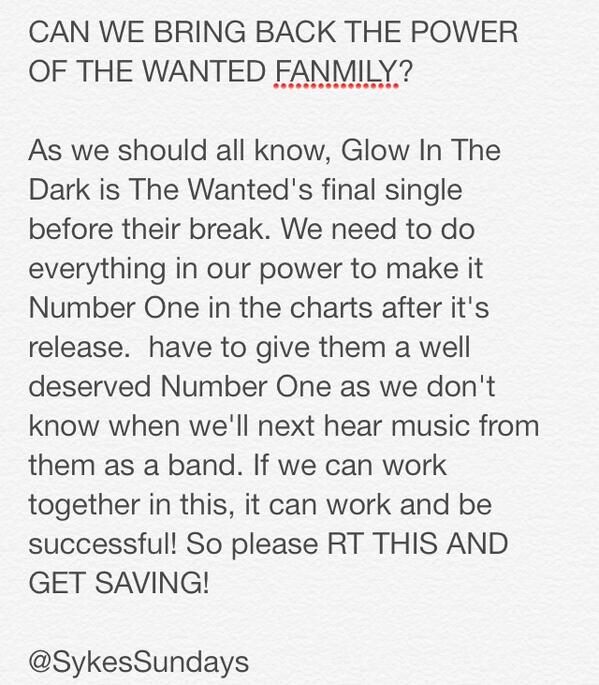 #TWFANMILY PLEASE READ, RETWEET AND SPREAD AROUND #GlowInTheDark http://t.co/OzB1B4Tzw4