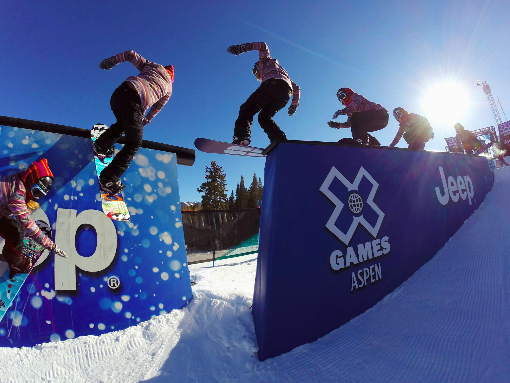 Photo of the Day! GoPro athlete @Jme_Anderson completes a clean transition on the Slopestyle course at #XGames2014. http://t.co/w85pbLvHtp