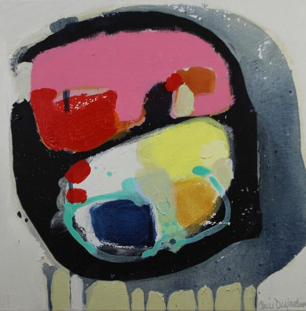 """Painting by #Montreal artist Claire Desjardins @clairedj """"Talk Alot"""" Today on @ArtBombAuction http://t.co/nRACwEY1gy http://t.co/zprOFsotlg"""