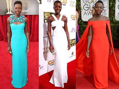 Lupita Nyong'o has nailed every red carpet so far this season! Seen here in Gucci, Calvin Klein & Ralph Lauren. http://t.co/jMAOHPANGt