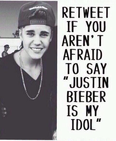 Justin Bieber is my idol http://t.co/ERAsRTUwNo