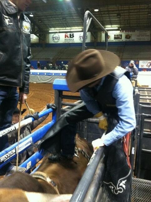 BREAKING: look who climbed into the chute for the first time since @PBR Finals in 2008. @jstnmcbride #PBROKC http://t.co/u0I6UT8QLc