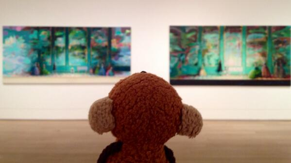 Monkey and Monika Baer! @artinstitutechi #focus #museum #chicago http://t.co/dnf2m7i9bF