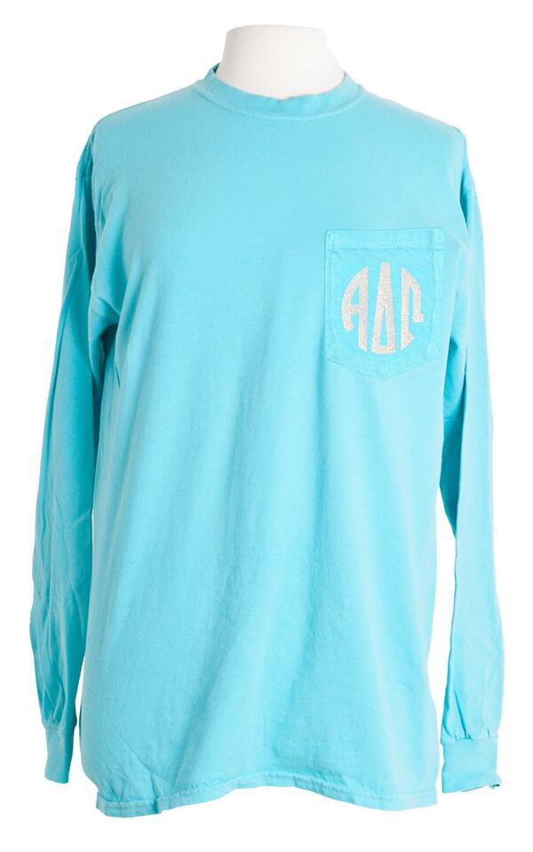 Twitter exclusive @SororitySpirit contest. RT THIS TWEET to win this #ADPi monogram tshirt! Contest ends 4:55 pm est http://t.co/R7iA8LtdL5