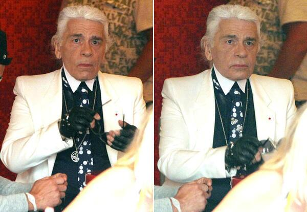 Dilara Yılmaz (@DilaraYlmz): Karl Lagerfeld without his epic sunglasses http://t.co/kFdeFsUMX1