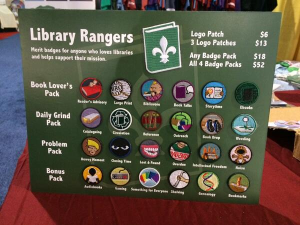 Our Library Ranger Badges will keep you warm. #alamw14 Booth 1056 http://t.co/uOG28SMbdH