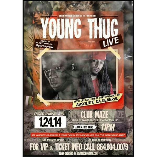 #Ridinthusparklecity ME YOUNG THUG n my DNA FAMILY turn in UP 2nite at MAZE! http://t.co/GlhKyr5sr7