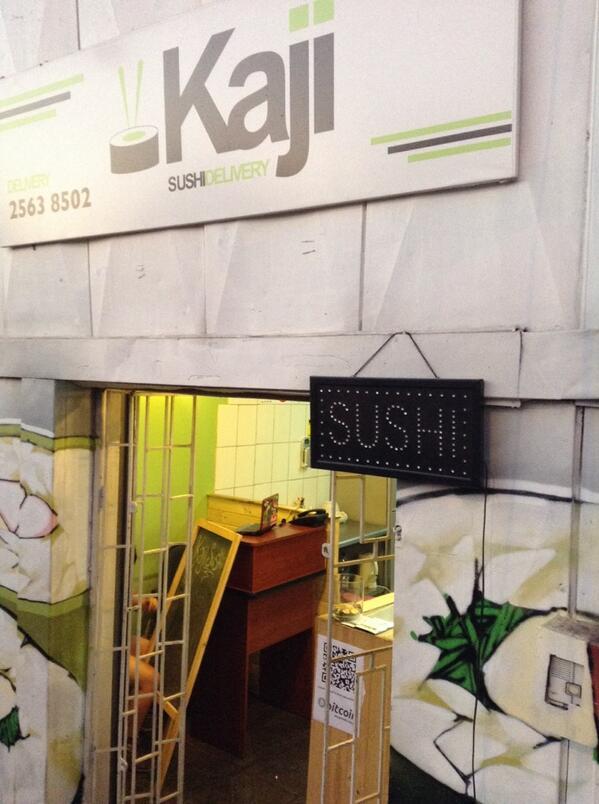 Kajisushi, el primer sushi de Santiago en aceptar Bitcoin! http://t.co/CU4xcV6q3Y en San Miguel y P.A.C http://t.co/K5avZaNAZZ