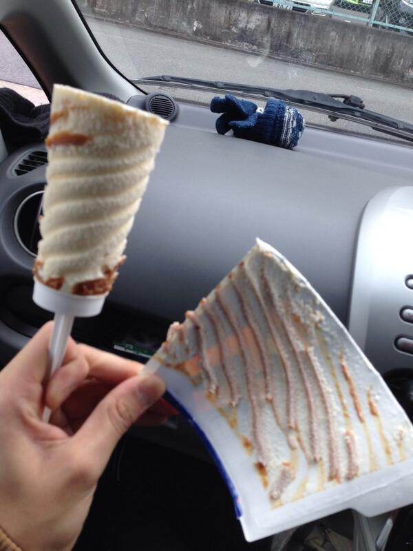 キャラメルリボンなんていうかわいいアイス買ったらこの有様。 http://t.co/0bnha76k4K