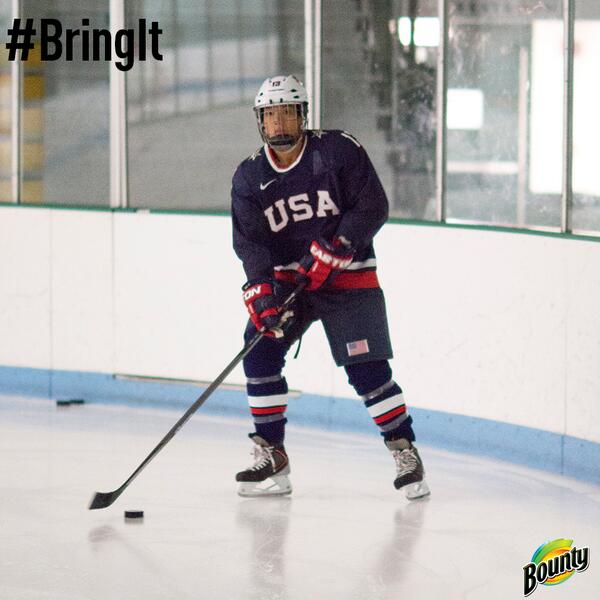 We're tuning in to the Olympic Winter Games Hockey Tournament & cheering on a favorite #BringIt athlete! http://t.co/EcETVvLMDW
