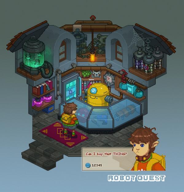 Robot Quest Shop #pixelart #screenshotsaturday #gamedev http://t.co/TQlpVArjSA