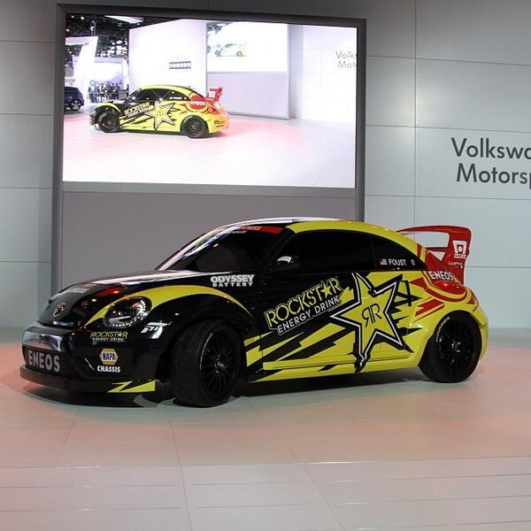 The 2014 @rockstarenergy @globalrallyx #Beetle has been officially unveiled at the Chicago Auto Show! @vw #superb... http://t.co/oqzBVLFxIh
