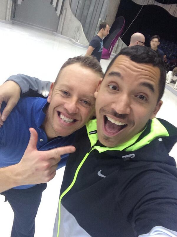 Dancing On Ice reh with @TheDanWhiston ----missing you @Heidi_range !!! http://t.co/2aqV4yT2c4