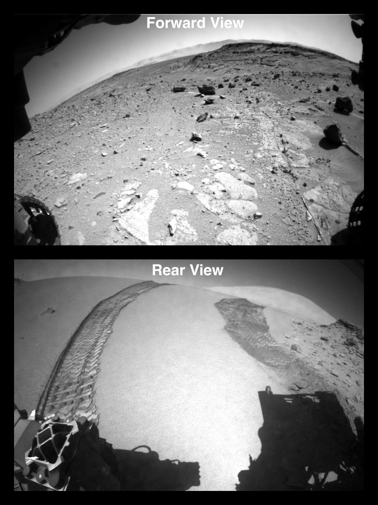 """I'm over the moon that I'm over the dune! I successfully crossed the """"Dingo Gap"""" sand dune on Mars. http://t.co/KEGLK79HU6"""