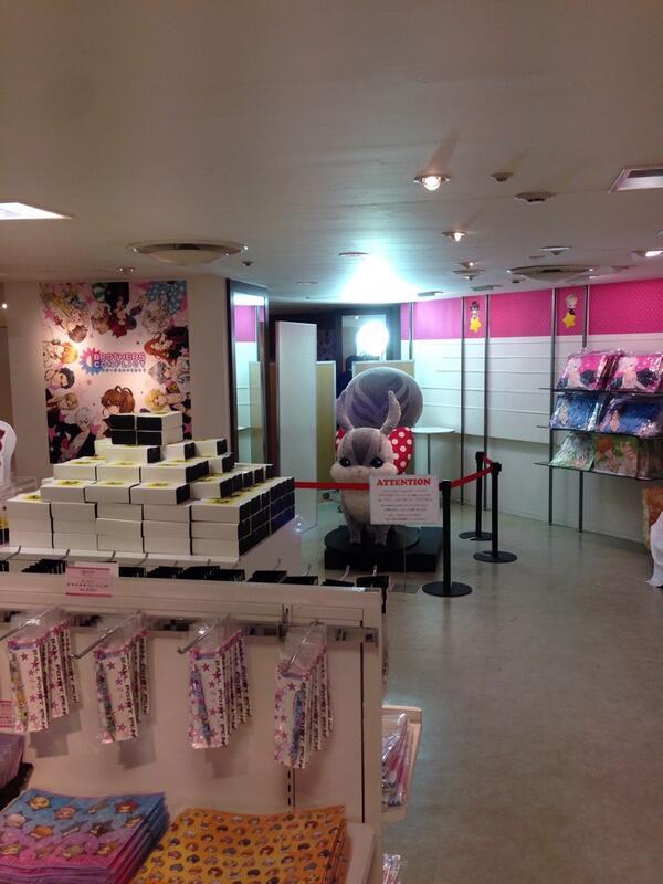 間もなく、ブラコン✖️マルイ 初日スタート! オープン前のお店はこんな感じ。  #bc_anime http://t.co/8SEDAUnghg