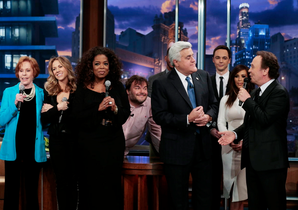 A bunch of old friends turned up for our last #TonightShow! http://t.co/BqOLQUM8gf
