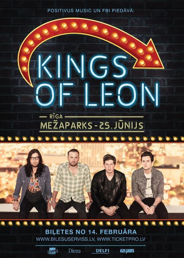 Gada koncerts Baltijā. KINGS OF LEON, 25.jūnijā, Mežaparkā. http://t.co/OfU9nb0IRg http://t.co/9UBbHN0DIg