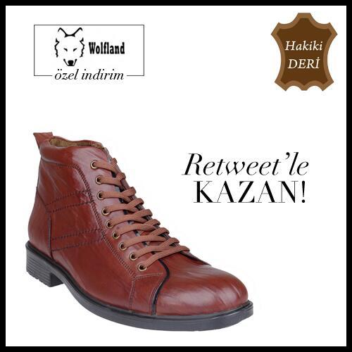 ✰ Wolfland Özel İndirimlerle @Trendyol 'da! RT yapan 1 kişi görseldeki ayakkabıyı kazanıyor! http://t.co/JAiLpZ1hwq ✔ http://t.co/3ridNAR3EK