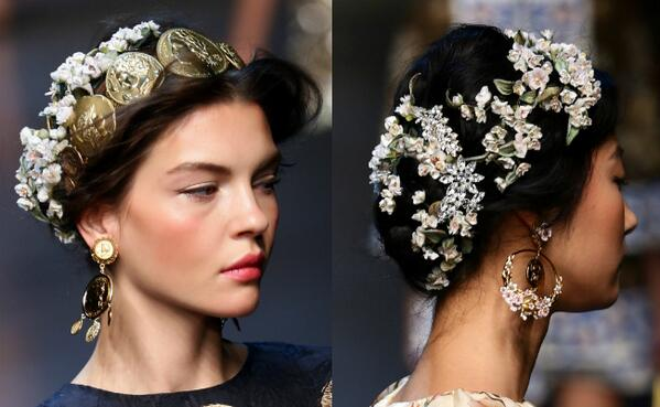 Perfectly romantic hair from Dolce & Gabbana #beauty http://t.co/PcD4GWqTJr