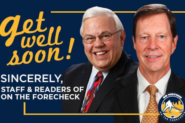 Sending our best wishes to David Poile & @PeteWeberSports: http://t.co/ayUS69118r   Thanks @lggallas for the image! http://t.co/b9WDwd6K75