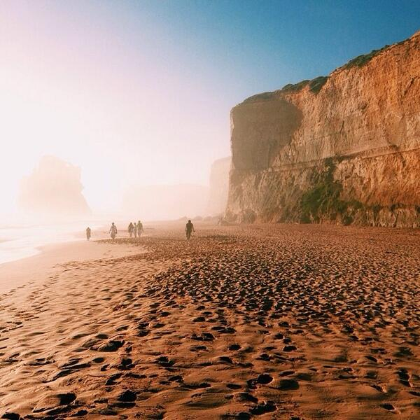 A surreal mist engulfs the #TwelveApostles on the #GreatOceanRoad in Victoria. Great shot by @ecesaliova! (via IG) http://t.co/vZkiFb75k8
