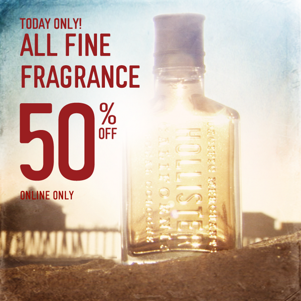 Today only! All Fine Fragrance 50% off! Details: http://t.co/aqNJG2Z6CY http://t.co/aUA5d52hbv