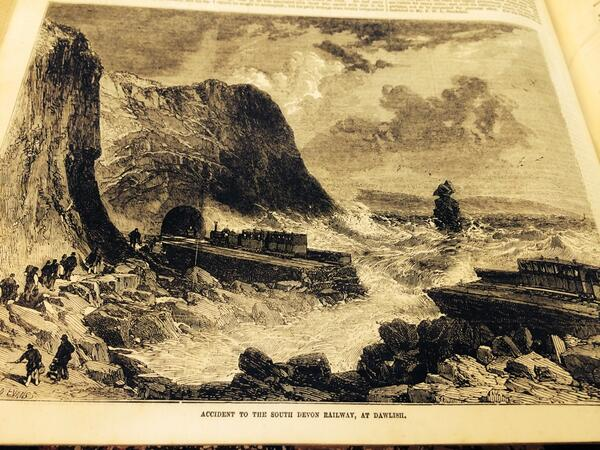 Dawlish: trouble from the start RT @plymlibraries Found image of #Dawlish from Illustrated London News 1855 http://t.co/JcrzUs4M2J