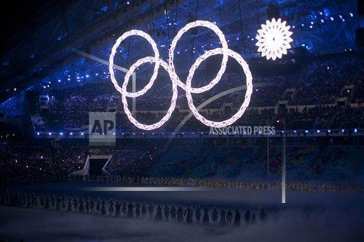 FOTO AP: El anillo olímpico que no se encendió en la ceremonia de apertura de #Sochi2014 http://t.co/ZXOgBNWPiZ