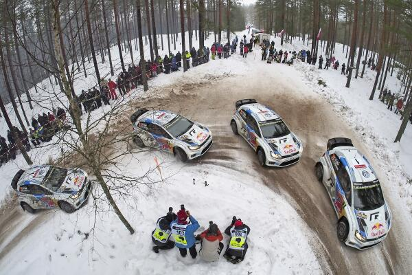 Great shot! @SebOgier takes on SS9 Fredriksberg in his VW Polo R WRC ... http://t.co/VynbyClLVc