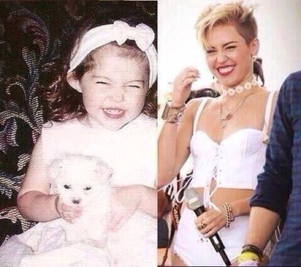 I had to repost this - so adorable @mileycyrus