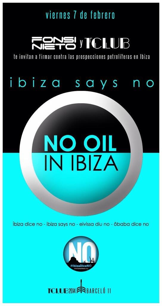 hoy los que amamos #ibiza te necesitamos + que nunca ven a firma contra las prospecciones petroliferas @IbizaDiceNo http://t.co/4nnSLtkP8i