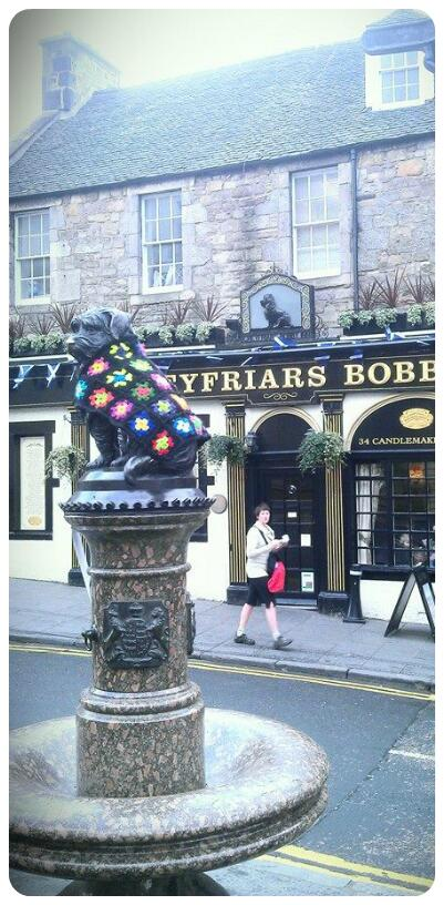 Hoho, just found out who gave Greyfriars Bobby his coat. Good job! #edinburgh http://t.co/anNASbpQqJ