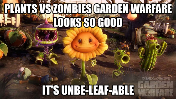 Plants vs. Zombies (@PlantsvsZombies): You bet your plants it does. #PvZGW Pre-order today: http://t.co/bFlFVp0rlN http://t.co/Lj0kHYzwr3