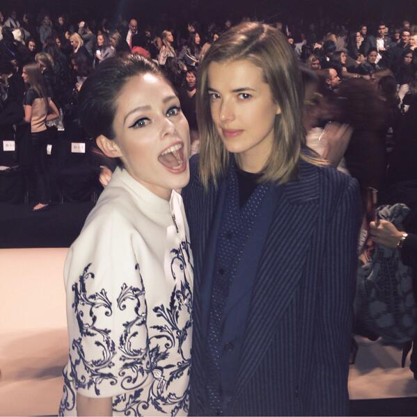 """❤️ ya! """"@cocorocha: My face when I realize I'm sat next to @AggyDeyn Haven't seen this little lady in 3 years http://t.co/bc3Zb0HADa"""""""