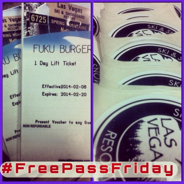 2nite 1stFriday giving 100 FREE lift tix. Just Instagm/tweet this pic & @LVSkiSnowboard @fukuburger  #FreePassFriday http://t.co/7UTqRmlo4a