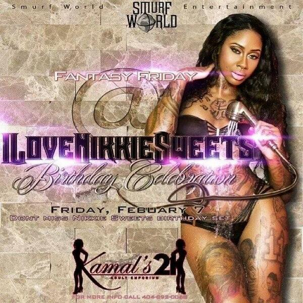 #tonight @1smurfworld present #fantasyFriday #Atl world famous @kamals21 @NikkieSweetz bday bash http://t.co/dvbw0Bp6Ss