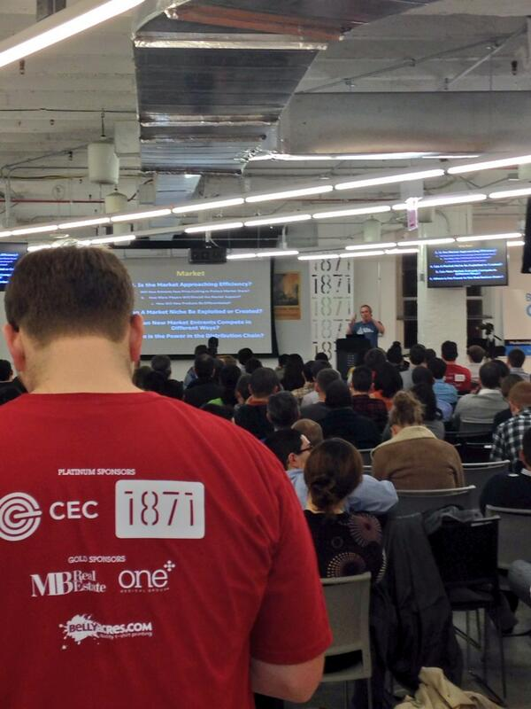 """Don't need a PHD, you need to out hustle"" @tullman on the mic @SWChicago #micdrop #swchi #startuplife http://t.co/fthEGGUQCI"