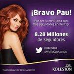 RT @PavelUnda: Y que quede claro la mexicana más internacional @paurubio #CuantoTeQuiero @WellaKolestonLA http://t.co/tG4N0fITgD