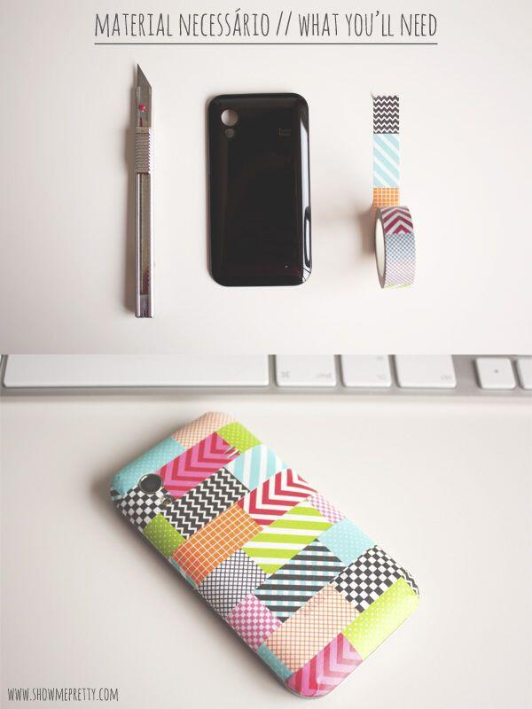 RT @DIYourselfx: DIY Washi tape phone cover. http://t.co/D6CP0VoyGL