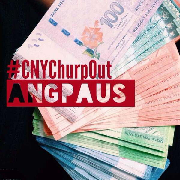 Cha chinggg! We've got tons of angpaus to give away at #CNYChurpOut tonight! RT if you want one! @TigerMalaysia http://t.co/Q0br3uFLC4