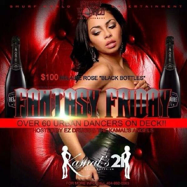 #tonight @1smurfworld present #fantasyFriday #Atl world famous @KAMALs21 60 dancers at your service http://t.co/nLwZ9jxGSE