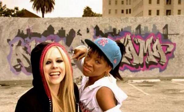 """""""Lil Mama & Avril Lavigne REMIX"""" How much fun was the remix of Girlfriend? #7YearsOfGirlfriend http://t.co/wndtvneJj8 http://t.co/nEuew1Wghs"""